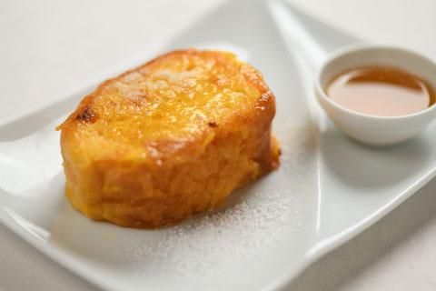 オーダーしてから焼きあげる、絶品フレンチトースト。